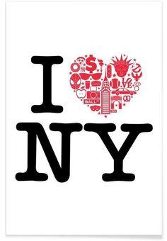 NY als Premium Poster von Chris Wharton | JUNIQE