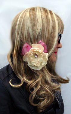 Flower Hair Clip  Elegant Steampunk Vintage by OnceUponAPoodle, $5.00
