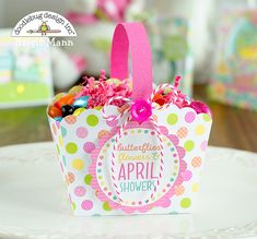 Doodlebug Design Inc Blog: Easter Express Collection: Shadowbox Gift Card Bag & Box by Brigit Mann