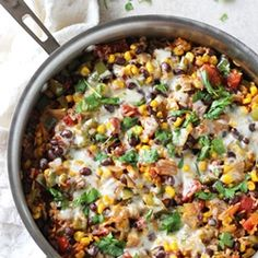 One pan skillet mexican brown rice casserole