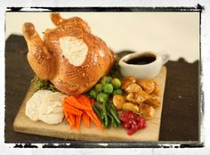 Dolls House Food : Miniature Christmas/Thanksgiving Turkey Dinner in 1/12th Scale