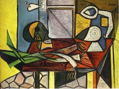 Skull and leeks Pablo Picasso