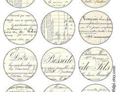 Vintage imágenes para imprimir etiquetas Digital Collage por 300dpi