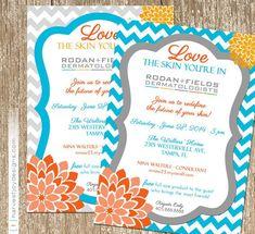Bloom Rodan And Fields Event Invitation - beauty, skin care invitation ...