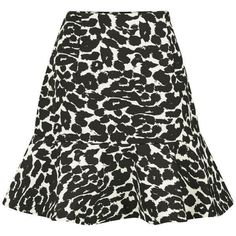 Finders Keepers Women's Like Smoke Frill Skirt - Leopard found on Polyvore