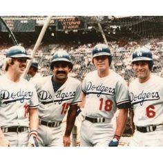 Los Angeles Dodgers: Ron Cey, Davey Lopes, Bill Russell and Steve Garvey Dodgers Baseball, Dodgers Nation, Dodgers Girl, Dodgers Fan, Steve Garvey, Baseball Posters, Baseball Stuff, Baseball Mom, Mlb