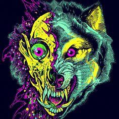 illustration wolf