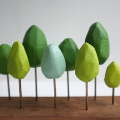 A Mini Forest for Your Home - just like the logo! Wood Company, Crafts For Boys, Disney Family, Spring Green, Nifty, Tabletop, Architecture, Wedding Hair, Mini