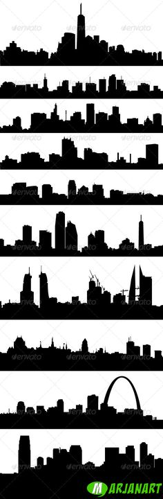 City Skyline Silhouettes