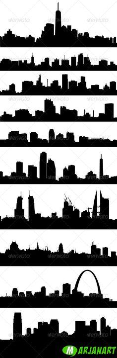 City Skyline Silhouettes