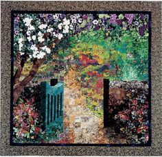 Fusing/Fabric Painting to Create a Realistic Art Quilt by Lenore Crawford Watercolor Quilt, Landscape Art Quilts, Fabric Art, Fabric Design, Fabric Painting, Painting Art, Garden Gates, Types Of Art, Art World
