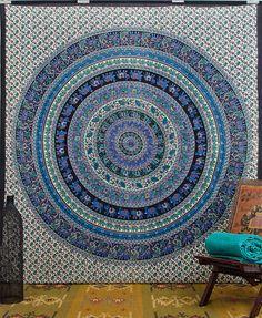 Hippie Tapestry Tapestries, Indian Mandala Tapestry Wall Hanging,Elephant Tapestries Wall Tapestries, Medallion Tapestry, Dorm Tapestries on Etsy, £12.20