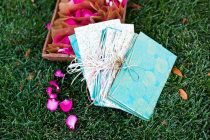 Handmade programs by the bridesmaids and bride from Wedding-Darling's wedding via @StyleMePretty http://wedding-darling.com/ebook/