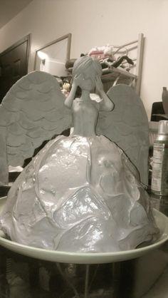 weeping angel cake