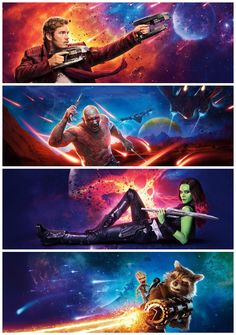 New Guardians of the Galaxy Vol. 2 banners