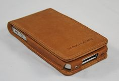 Full Grain Leather iPhone 4/4s Flip Case/Wallet saddle by Waxhaws