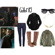 """""""Gabriel"""" by evil-laugh on Polyvore 