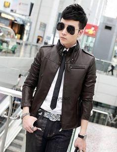 Áo khoác da thái màu đen - B4689