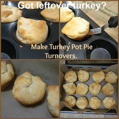 make turkey pot pie turnovers with all your leftover turkey. easy peasy.