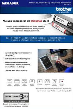 Nuevas impresoras de etiquetas brother QL-8