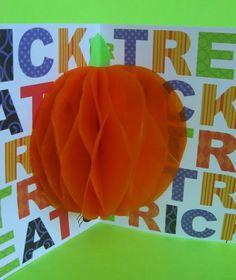 DIY 3D pumpkin card and decoration #pumpkin #halloween