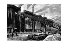 size: Giclee Print: Blast Furnaces, Barrow Hematite Iron and Steel Company, Barrow in Furness, Cumbria, 1890 : Barrow In Furness, Steel Companies, Sailing Regatta, Tropical Art, Cumbria, Days Out, Gradient Color, Find Art, Framed Artwork