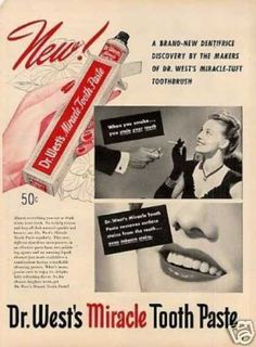 Dr. West's Miracle Tooth Paste (1946)