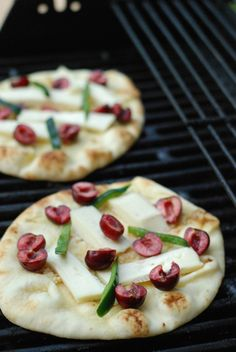 Grilled Cherry & Brie Pizza - Lemons for Lulu