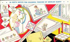 Vogart 142 Mexican Fiesta motifs for Colorful touches in your home.