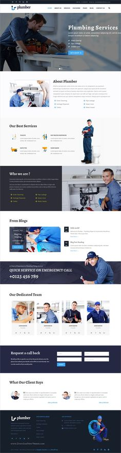 Plumberpro is clean & modern design 5in1 responsive #WordPress theme for plumber, #electrician or handyman #service agencies website download now➩ https://themeforest.net/item/construct-wordpress-construction-business-theme/19394816?ref=Datasata