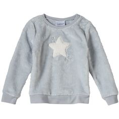 Toddler Girl Jumping Beans® Stitched-In Applique Plush Pullover, Size: 4T, Silver