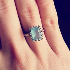 Cute cloudy blue stoned ring from my Happy Birthday candle. Love it! #prizecandle #prizecandlesocial #ring #jewelry #happy #birthday