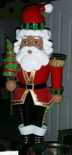 30 inch LED Multicultural Ethnic Black Brown African American Santa Lights Xmas