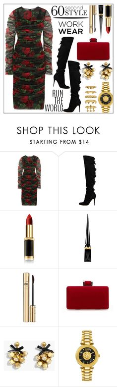 """""""60 Second Style: Work Wear"""" by pat912 ❤ liked on Polyvore featuring Dolce&Gabbana, Valentino, L'Oréal Paris, Christian Louboutin, J.Crew, Versus, Luv Aj, WorkWear, polyvoreeditorial and 60secondstyle"""