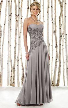 Cameron Blake Beaded Asymmetrical Chiffon Evening Dress 211620 at frenchnovelty.com