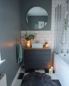 5 Flattering Tips AND Tricks: Natural Home Decor Feng Shui Offices natural home decor rustic countertops.Natural Home Decor Feng Shui Interior Design all natural home decor living rooms.Natural Home Decor Inspiration Texture. Bad Inspiration, Bathroom Inspiration, Home Decor Inspiration, Decor Ideas, Home Interior, Bathroom Interior, Interior Design, Bathroom Vanity Units, Small Bathroom