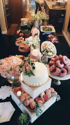 Food Displays, Baby Shower Themes, Table Settings, Table Decorations, Baby Ideas, Party, House Ideas, Future, Pink