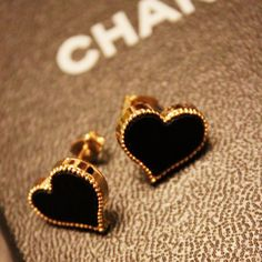 Chanel heart earrings.
