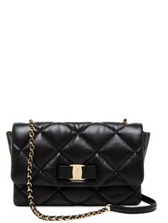 Gelly Quilted Leather Vara Bow Small Crossbody from Salvatore Ferragamo  Shoes   Handbags on Gilt 8649ef58a712f