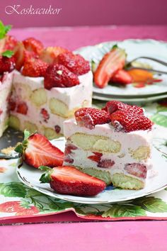 Eastern European Recipes, Greek Yoghurt, Cakes And More, Diy Food, Cake Cookies, Amazing Cakes, Cake Recipes, Cheesecake, Strawberry