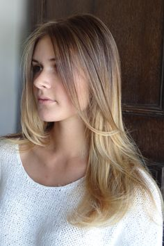 """Hair color """"bronde"""". Not quite blonde, not quite brown :)"""