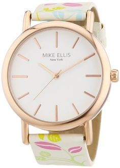 Mike Ellis New York Damen-Armbanduhr Analog Quarz Kunstleder L2979 - http://uhr.haus/mike-ellis-new-york/mike-ellis-new-york-damen-armbanduhr-analog-quarz