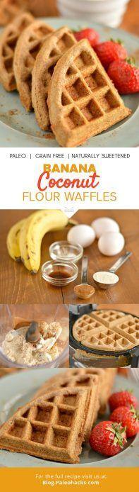 banana coconut flour waffles pin