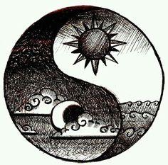 Yin Yang Tattoos, Tatuajes Yin Yang, Cool Drawings, Drawing Sketches, Hipster Drawings, Tattoo Sketches, Tumblr Drawings Easy, Trippy Drawings, Drawing Designs