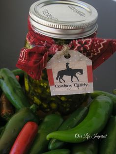 CowBoy Candy AKA candied Jalapenos.  spicy, sweet and wonderful addition to a barbecue or pot-luck.  www.ourlifeinspired.com