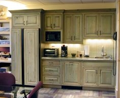 Perfect Vintage Green Kitchen Cabinets