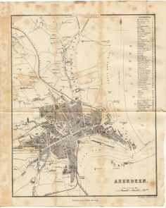 Aberdeen, Vintage World Maps, Activities