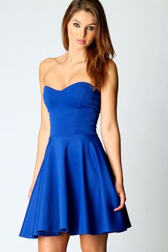 blue sweetheart mini dress