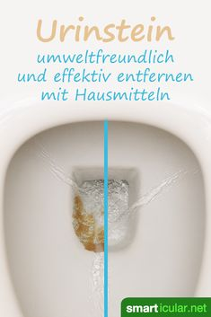 Urinstein effektiv entfernen mit Hausmitteln – so bleibt das WC sauber Have you failed with all previous measures to remove urine stone? These home remedies help effectively and are also inexpensive and environmentally friendly. Household Cleaning Tips, Cleaning Day, Toilet Cleaning, House Cleaning Tips, Green Cleaning, Spring Cleaning, Cleaning Hacks, Diy Hacks, Limpieza Natural