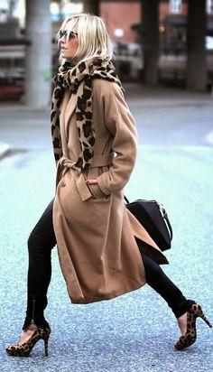 Loooove the scarf!! >>>Camel Leopard Scarf